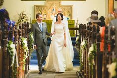 Happy Married Couple Bride Groom Marriage Ceremony Wedding Dress The White One Janais Rothwell Holy Trinity Church Wedding Photography Yorkshire England