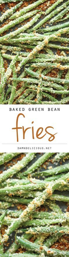 Baked Green Bean Fries - Healthy, nutritious fries that you can eat guilt-free. And they're baked to absolute crisp-perfection!