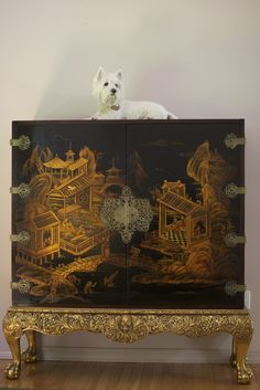 爱 Chinoiserie Dresser - Mai Qui! 爱 home decor in chinoiserie style Asian Furniture, Chinese Furniture, Antique Furniture, Painted Furniture, Oriental Furniture, Plywood Furniture, Modern Furniture, Furniture Design, Et Wallpaper