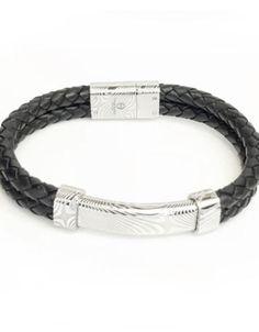 Theodore Designs Melbourne | Jewellery & Cufflinks | Men & Women Black Leather Bracelet, Damascus Steel, Special Events, Black Silver, Melbourne, Cufflinks, Braids, Jewellery, Bracelets