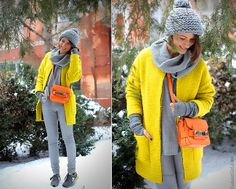 Sun in the snow.  (by Galant-Girl Ellena)  bag - PROENZA SCHOULER PS11. leather trousers - ASOS sneakers - NEW BALANCE.   AND FOR THE REST O...