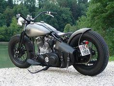 1950 Harley Panhead #HarleyDavidson #Bobber #Motorcycle www.RidersLine.com.au