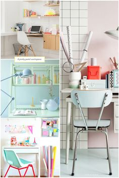 8 pretty pastel workspaces