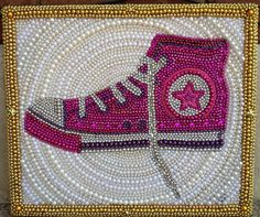 mardi gras beads shoe, skate, boot - made to order on Etsy, $300.00