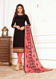 7ef829307f2 Indian Pakistani Designer Black Colored South Cotton Salwar Suit Bridal Salwar  Kameez Anarkali Salwar Suit for women