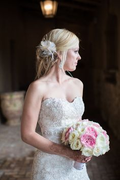 Wedding Vintage Style Bridal Hair Fascinator by kathyjohnson3