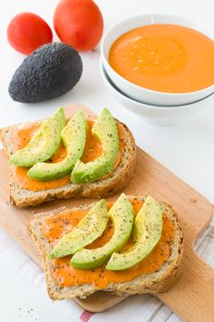 Spanish salmorejo and avocado toast | minimaleats.com