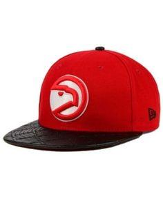 New Era Atlanta Hawks Visor Cross 9FIFTY Snapback Cap - Black/Red Adjustable