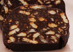 Κορμός σοκολάτας - μωσαικό - σαλάμι - gourmed.gr