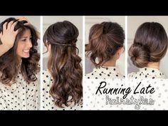3 Cute Hairstyles in 1 minute each!  From the adorable girls at Luxy Hair