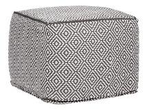 Iaman - Pouf à motifs noir et blanc - Habitat