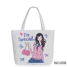 Miyahouse Women Canvas Handbag Character Cat beach bag