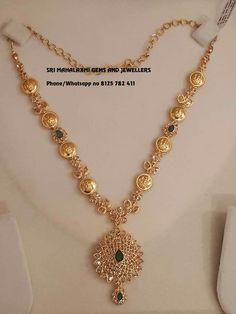Jewelry Design Earrings, Gold Earrings Designs, Gold Haram Designs, Gold Necklace Simple, Gold Jewelry Simple, Simple Necklace Designs, Fine Jewelry, 1 Gram Gold Jewellery, Indian Gold Jewellery Design