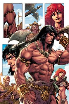 Red Sonja - Conan #01 - My colors Art by - Roberto Castro