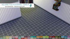 Square Tile Flooring - Sims 4 Walls & Flooring - Dragon Black Sims