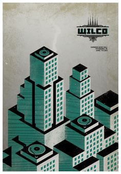 Wilco - gigposter by Miguel Chorda