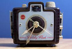 brownie camera turned into a clock #photography @Jill Mott