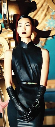 hey look it's a leather qipao maybe it could join your leather jumpsuit in your…