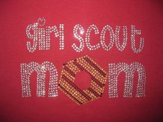 Just in time for cookie time Rhinestone Girl Scout Mom Shirt. $20.00, via Etsy.