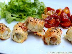 Würstchen im Blätterteig mit Käse - kleine Snacks  von Chili und Ciabatta
