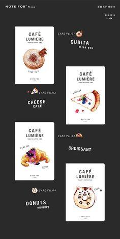Café Lumière A5 Sketchbooks by NOTE FOR