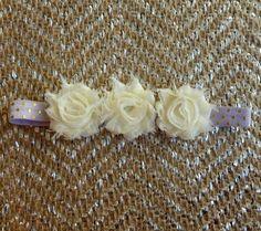 Beautiful Bloom Flower Headband Off White by Stephsjewels4ella