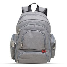 PandaPaw Baby Diaper Backpack Bag With Changing Pad & Stroller Straps Baby Diaper Bags, Diaper Bag Backpack, Dipper Bag, Fashionable Diaper Bags, Changing Pad, Unisex Baby, Cool Baby Stuff, Baby Gear, Fashion Backpack
