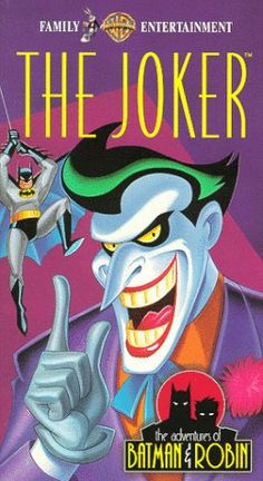 """The Adventures of Batman& Robin: The Joker is a VHS release of two episodes of Batman: The Animated Series. Episodes """"Christmas with the Joker"""", """"The Laughing Fish"""" Joker Animated, Batman The Animated Series, Animated Cartoons, Batman Robin, Joker Dc Comics, Batman Cartoon, Batman Collectibles, Batman Poster, Dc Universe"""