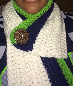 Seahawk button scarf