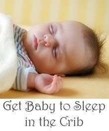 Tips for teaching baby to sleep in the crib