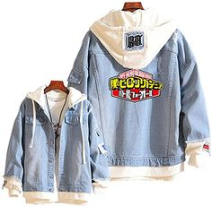 Boku No Hero Academia My Hero Academia Denim Jacket Graphic Hoodie Cosplay Unisex Anime Cosplay Outfits, Anime Outfits, Cool Outfits, Casual Outfits, My Hero Academia Merchandise, Anime Inspired Outfits, Cute Fashion, Fashion Outfits, Kawaii Clothes