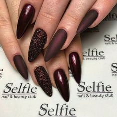 73 Most Stunning Dark Nails Inspirational Ideas ( Acrylic Nails, Matte Nails) ♥ - Diaror Diary - Page 13 ♥ 𝕴𝖋 𝖀 𝕷𝖎𝖐𝖊, 𝕱𝖔𝖑𝖑𝖔𝖜 𝖀𝖘!♥ ♥ ♥ ♥ ♥ ♥ ♥ ♥ ♥ ♥ ♥ ♥ ღ♥ Everythings about Stunning nails design you may love! ღ♥ s҉e҉x҉y҉ Dark Nail Designs, Acrylic Nail Designs, Nail Art Designs, Nails Design, Fabulous Nails, Gorgeous Nails, Pretty Nails, Cute Acrylic Nails, Fun Nails
