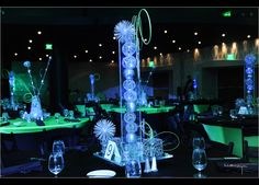 Mad Scientist Mitzvah Floral and Decor: Bold American Events! Dinner Themes, Event Themes, Party Themes, Party Ideas, Bar Mitzvah Decorations, Wedding Decorations, Chemistry Wedding, Wedding Reception Design, Wedding Receptions