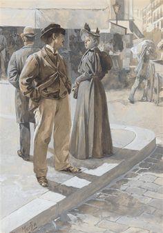 Alphonse Mucha, Street corner: a moment