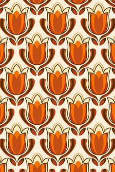 Retro tulip print by pinkandfluffy on DeviantArt – Wall Paper 2020 Design Floral, Motif Floral, Retro Design, Web Design, Boho Pattern, Retro Pattern, Pattern Art, Et Wallpaper, Fabric Wallpaper