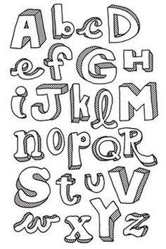 90 Beautiful Typography Alphabet Designs (Part 1) | Design Listicle Bubble Letter Fonts,