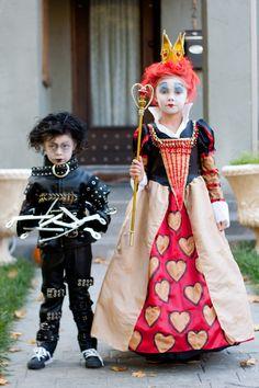 Tim Burton children's costumes - Edward Scissorhands or the Red Queen - Custom Made. $600.00, via Etsy.