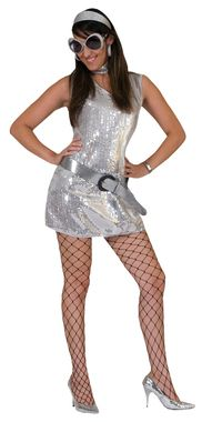 Disco Dress Silver Adult