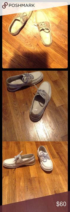 Cole Haan with Nike Air boat shoes size 8 Cole Haan boat shoes with Nike Air technology. Men's size 8. Have been worn before, but still in excellent condition. White with beige accents. Cole Haan Shoes Boat Shoes