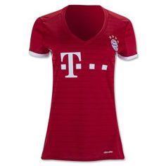 Women s Bayern Munich 2016-17 Season Home Soccer Jersey Women s Bayern  Munich 2016-17 Season Home Soccer Jersey e7e545d243