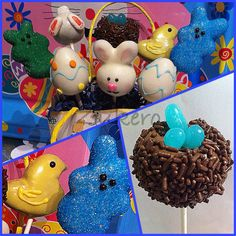 Are these Easter Cake Pops not the sweetest? Cake Pop Designs, Easter Cake Pops, Holiday Cakes, Custom Cakes, Create, Sweet, Desserts, Personalized Cakes, Candy