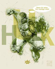 Hulk, Hulk poster, Superhero by JAnoveltyDeSign