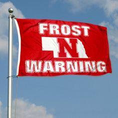 Nebraska Cornhuskers Scott Frost Warning Flag