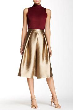 Falda midi dorada #Navidad