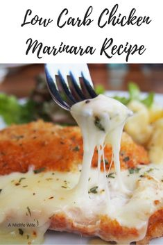Low Carb Chicken Marinara Recipe - Quick and Easy from A Midlife Wife