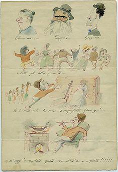 """Lettera """"illustrata"""" del 1888 di Melchiorre De Filippis-Delfico"""