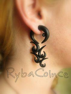 Fake ear gauge / Faux gauge/Gauge earrings / fake by RybaColnce,