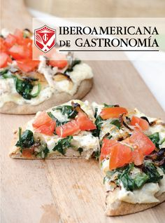 Pizza de Dip de Alcachofas con Espinaca  #Pizza #Ricotta #Gourmet
