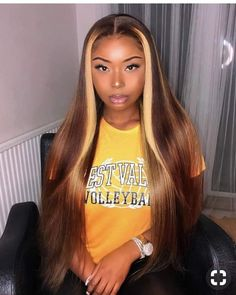 LIBRA Season SLAY Love my Peruvian hair brown highlights custom colour also by wig slayed by - March 23 2019 at Hairstyles For Long Hair Easy, Wig Hairstyles, Straight Hairstyles, Alternative Hairstyles, Formal Hairstyles, Vintage Hairstyles, Hairstyle Ideas, Curly Hair Styles, Natural Hair Styles