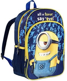 "Black and Blue Dial 5 for Minion Despicable Me 16/"" Rolling Backpack /& Lunch Box"